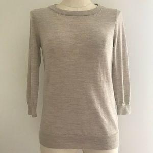 J Crew Tippi Beige Wool Sweater 46725 Size S